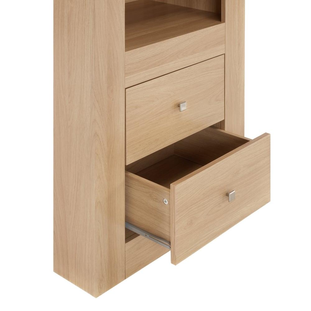 Lpd Furniture Moda Oak 3 Tier Display Unit Leader Stores