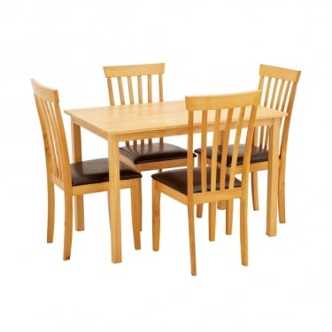 LPD Furniture Newark Oak Dining Set