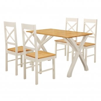 LPD Furniture Normandy White Dining Set