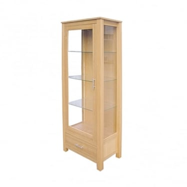 LPD Furniture Oakridge Oak 1 Drawer 1 Door Display Unit (OAKDISP)