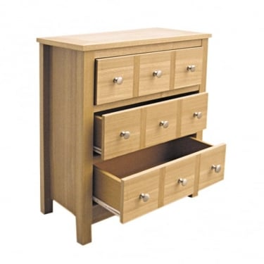 LPD Furniture Oakridge Oak 3 Drawer Chest (OAKMUL)