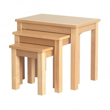 LPD Furniture Oakridge Oak Nest of Tables 3-Pack (OAKNEST)