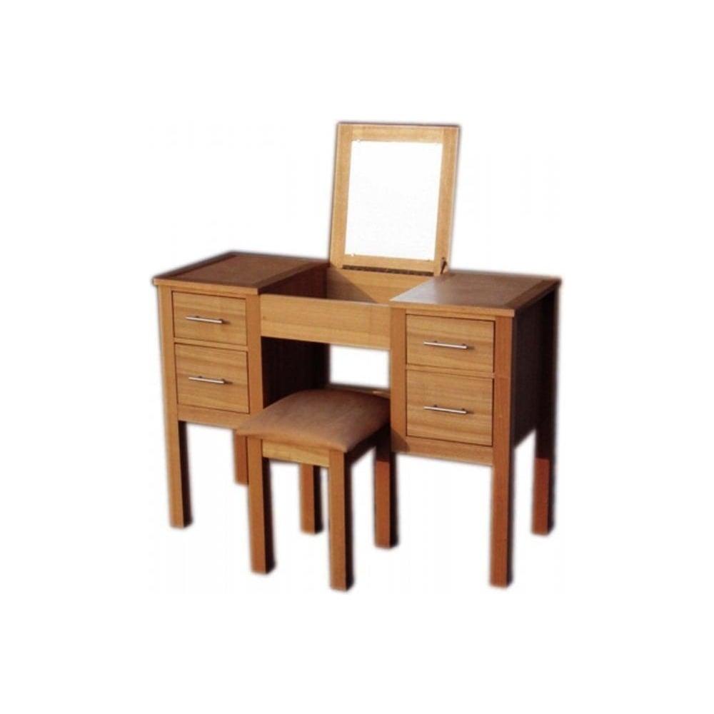 Lpd furniture oakridge ash dressing table with stool for Home furniture dressing table