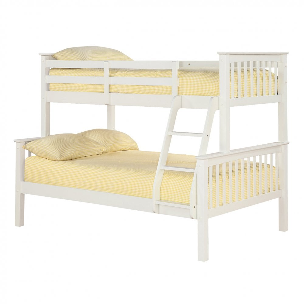 Lpd furniture otto off white 4390 trio bunk bed pair for Furniture and mattress outlet mason city iowa