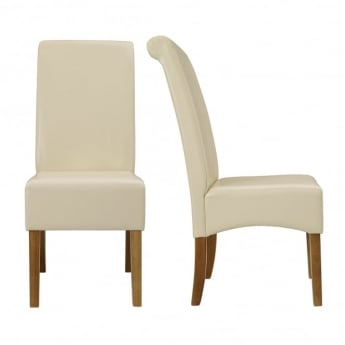 LPD Furniture Padstow Cream Dining Chair (Pair)