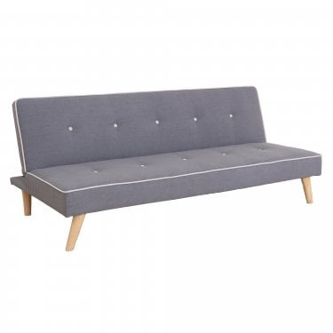 LPD Furniture Parker Grey Fabric Sofa Bed