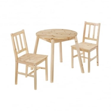 LPD Furniture Prague Knotty Pine Dining Set