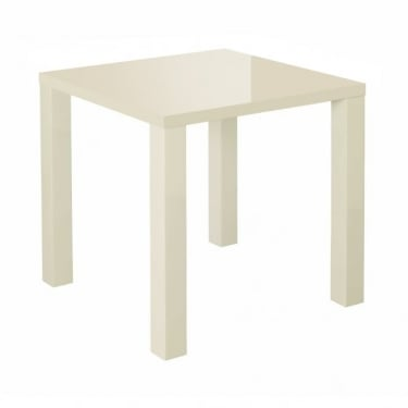 LPD Furniture Puro Cream High Gloss End/Lamp Table