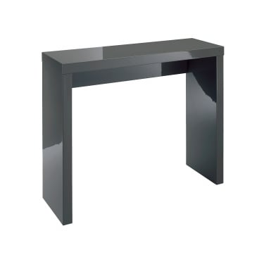 LPD Furniture Puro High Gloss Charcoal Console Table (PUROCHARCONS)