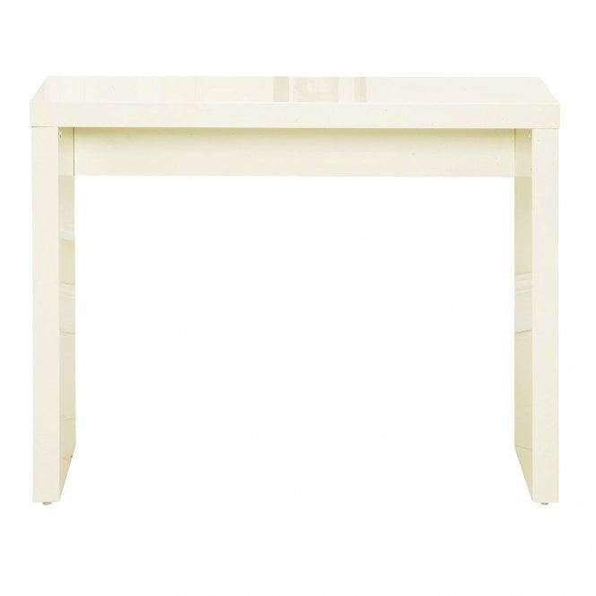 cream console table. LPD Furniture Puro High Gloss Cream Console Table (PUROCONSCRE)