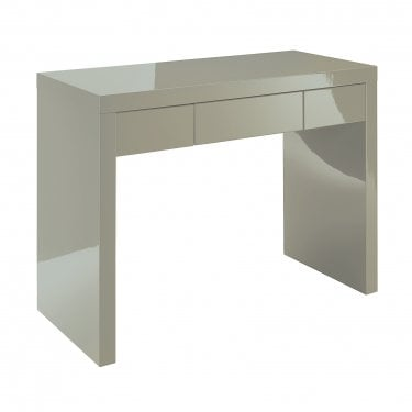 LPD Furniture Puro High Gloss Stone 1 Drawer Dressing Table (PURODESK)