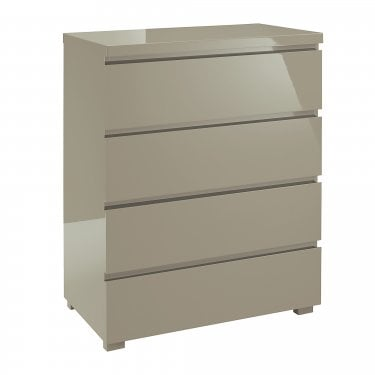 LPD Furniture Puro High Gloss Stone 4 Drawer Chest (PURO4DR)