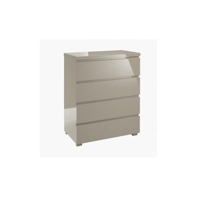 lpd furniture puro stone high gloss 4 drawer chest. Black Bedroom Furniture Sets. Home Design Ideas