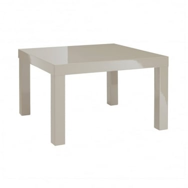 LPD Furniture Puro Stone High Gloss End/Lamp Table