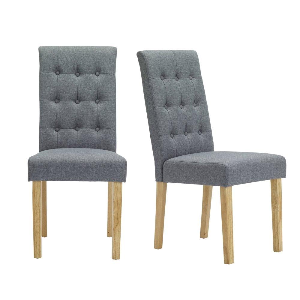 Roma grey dining chair pair