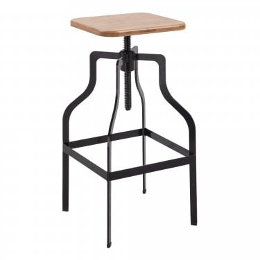 LPD Furniture Shoreditch Black Bar Stool
