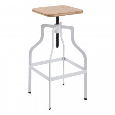 LPD Furniture Shoreditch White Bar Stool