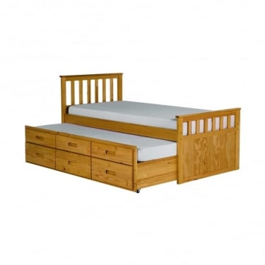 LPD Furniture Sleepover Natural 3'0 Bed (SLEEPOVER)