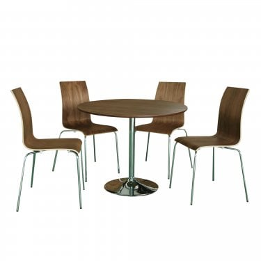 LPD Furniture Soho Walnut Dining Set