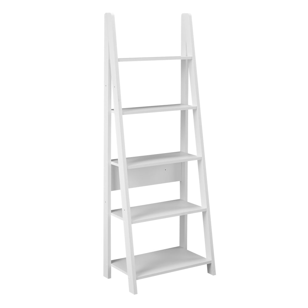 lpd furniture tiva white ladder bookcase leader stores