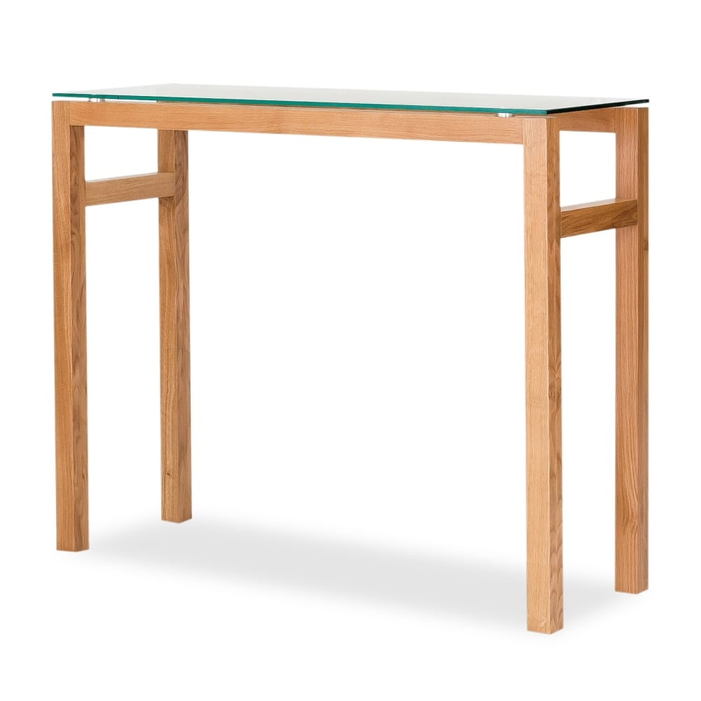 Lpd Furniture Tribeca Oak Console Table Leader Stores