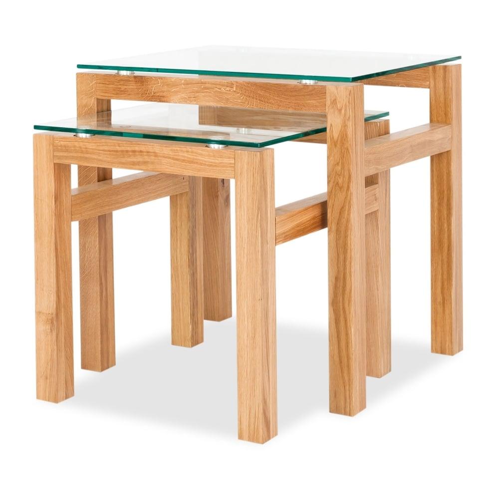 Lpd Furniture Tribeca Oak Nest Of 2 Tables Leader Stores