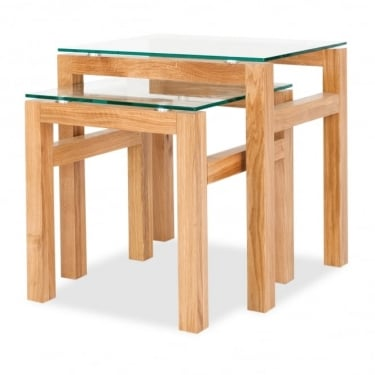 LPD Furniture Tribeca Oak Nest of Tables (TRIBECNEST)
