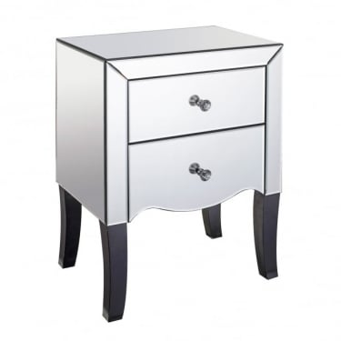 LPD Furniture Valentina Mirrored Bedside Cabinet