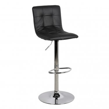 LPD Furniture Vigo Black Bar Stool