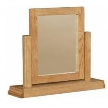 LPD Furniture Worthing White Oak Dressing Table Mirror (WORTHMIR)