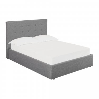 Lucca Small Double Hydraulic Storage Bed, Grey