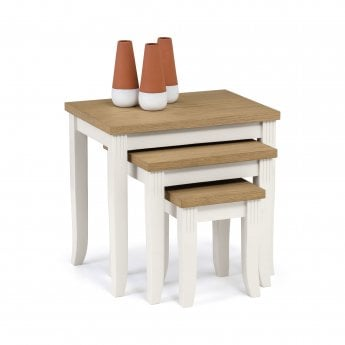 Lucile Nesting Tables, Ivory