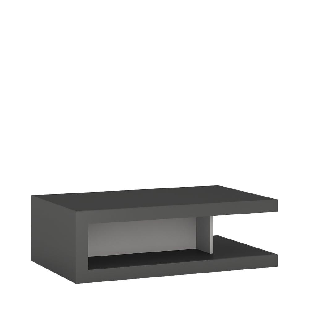 Grey High Gloss Coffee Table Uk: Furniture To Go Lyon Platinum Light Grey Coffee Table