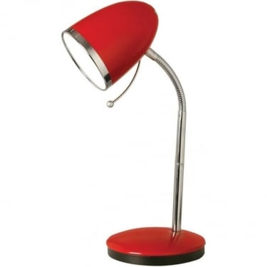 Oaks Lighting Madison Red Table Lamp