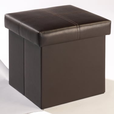 Madrid Black Small Ottoman