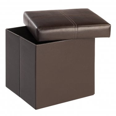 Madrid Small Ottoman, Brown