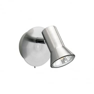 Firstlight Magnum Brushed Steel Single Spot Light