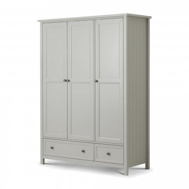 Maine Dove Grey 3 Door Combination Wardrobe