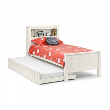 Maine Surf White Bookcase Single Bed