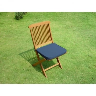Majestic Plain Blue Seat Pad Chair Cushion