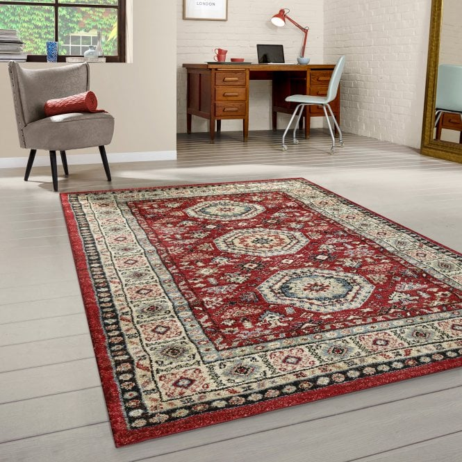 Majestic Red Traditional Pattern Rug 230x160cm (26331-010-160230)
