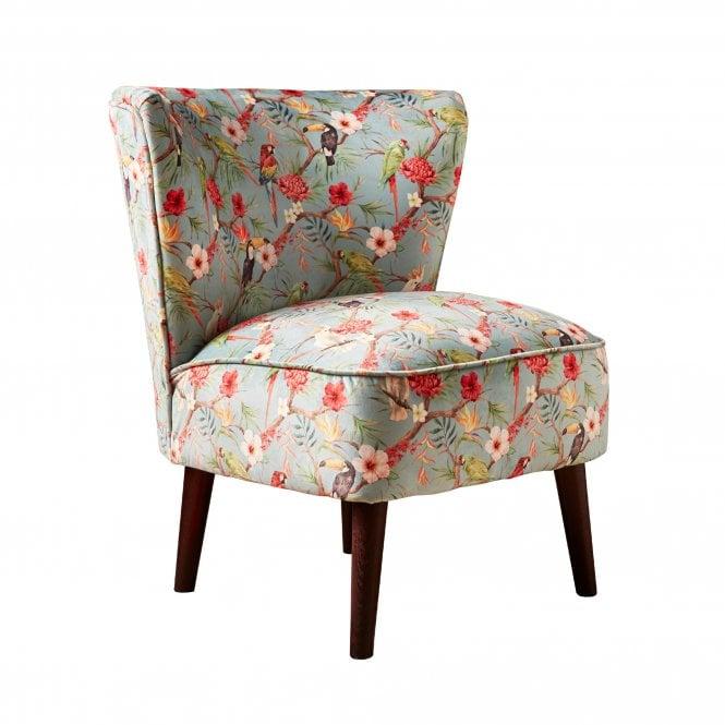 Malmesbury Shangri-La Accent Chair, Duck Egg Blue