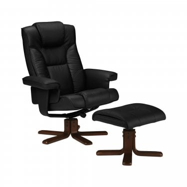 Malmo Black Faux Leather Recliner Chair