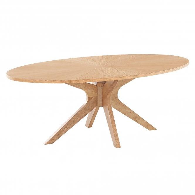 Malmo Oval Coffee Table, Oak