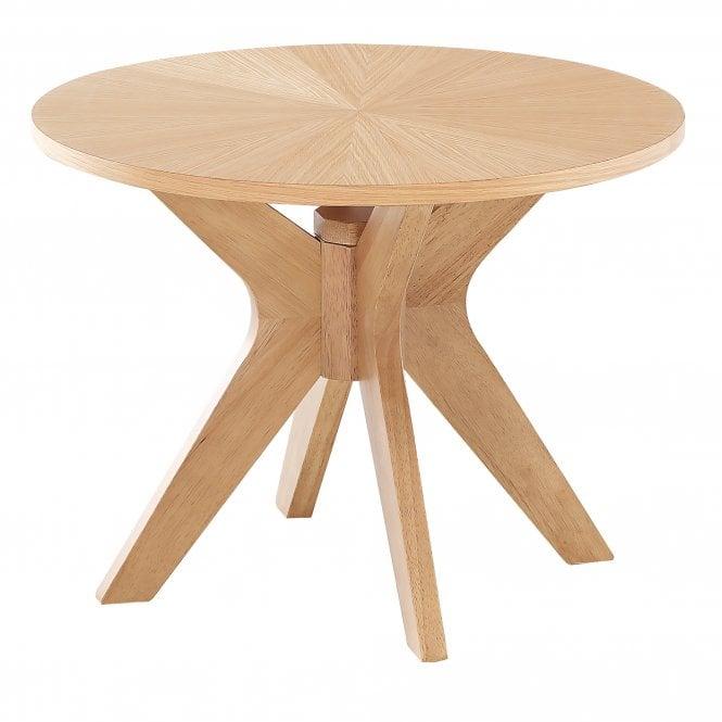 Malmo Round End Table, Oak