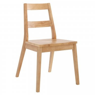 Malmo White Oak Dining Chair Pair