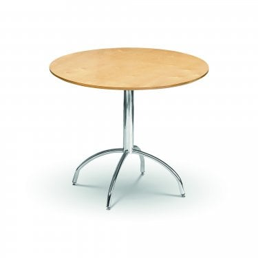 Mandy Maple & Chrome Dining Table
