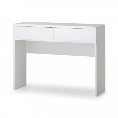 Manhattan White High Gloss 2 Drawer Dressing Table