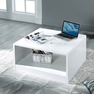 Manhattan White High Gloss Coffee Table