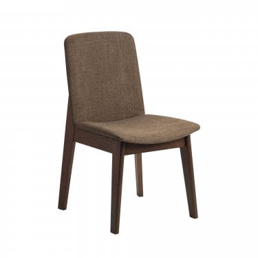 Marco Dining Chair Set Of 2, Brown Linen